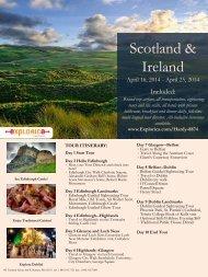 Scotland & Ireland Information Flyer - Wayne County Public Schools