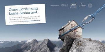 "Postkarte - Petition ""Pro Hütten und Wege"""