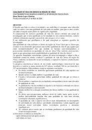 QUALIDADE DE VIDA DOS IDOSOS DA REGIÃO DE VISEU ...