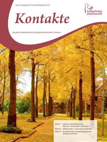Ausgabe Nov-Dez 2012 - Evangelisches Johannesstift