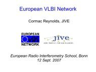 The European VLBI Network (EVN) - Mpifr-bonn.mpg.de