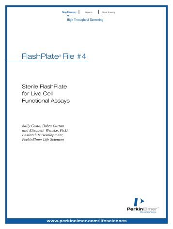 Sterile FlashPlate for Live Cell Functional Assays - PerkinElmer