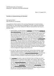 Verhalten im Zusammenhang mit Fehlzeiten - OSZ Bürowirtschaft ...