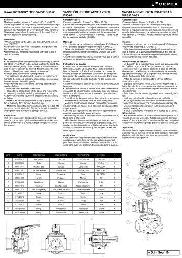 Nueva Válvula de Compuerta Rotatoria manual (PDF: 1 - Cepex