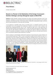 Press Release Bavaria is a Pioneer in the Realization of ... - Belectric