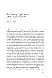 Rethinking Legal Ideals after Deconstruction - The University of ...