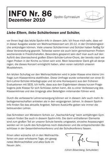 INFO Nr. 86 - Spohn-Gymnasium Ravensburg