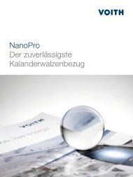 NanoPro Der zuverlässigste Kalanderwalzenbezug - Voith