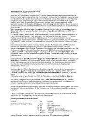 Jahresbericht 2007 für Oberbayern