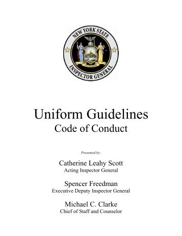 Code of Conduct and Uniform Guidelines - The State University of ...