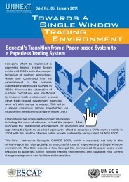 Senegal's Transition from a Paper-based System to a ... - Escap