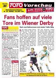 Fans hoffen auf viele Tore im Wiener Derby - win2day