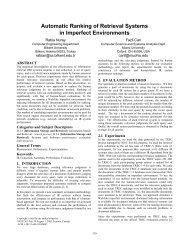 Automatic Ranking of Retrieval Systems in Imperfect ... - CiteSeerX