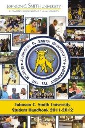 Johnson C. Smith University Student Handbook 2011-2012