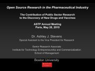Open Source Research in the Pharmaceutical Industry Dr. Ashley J ...