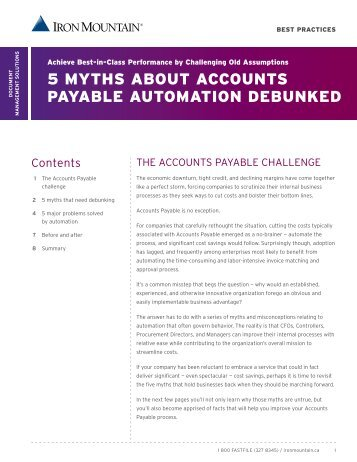 5 MYTHS ABOUT ACCOUNTS PAYABLE AUTOMATION DEBUNKED