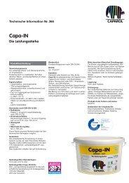 Capa-IN Die Leistungsstarke - Deutsche Amphibolin Werke -  Caparol