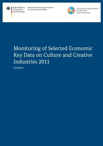 Monitoring of Selected Economic Key Data on Culture and Creative ...