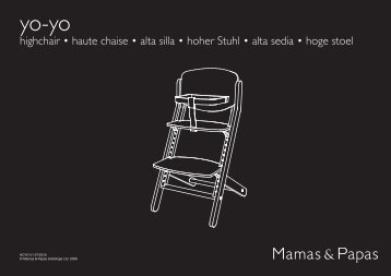 highchair • haute chaise • alta silla • hoher Stuhl ... - Mamas & Papas