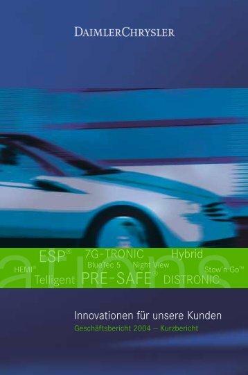 Kurz-Geschäftsbericht 2004 - Daimler