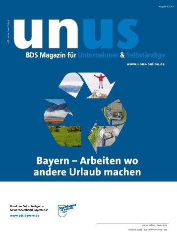 Bayern – Arbeiten wo andere Urlaub machen - BDS-News