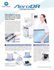 Aero DR Portable Solution (PDF, 960KB) - Konica Minolta