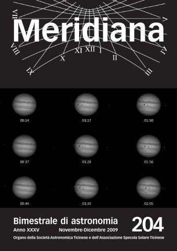 Meridiana 204.qxp:Meridiana - Società Astronomica Ticinese