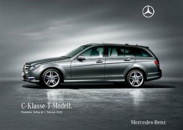 C- Klasse T-Modell. - Preislisten