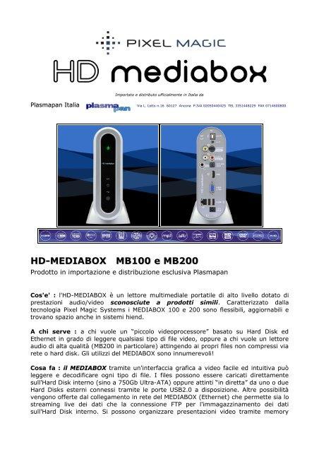 HD-MEDIABOX MB100 e MB200 - Plasmapan