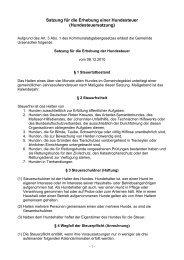 Satzung für die Erhebung einer Hundesteuer - Gemeinde Ursensollen