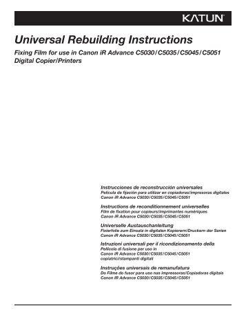 Universal Rebuilding Instructions - Katun