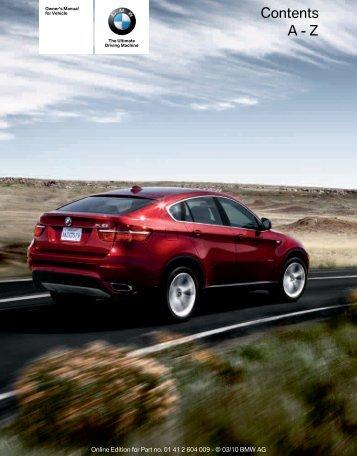Owner's Manual - Irvine BMW