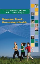 Keeping Track, Promoting Health - National Environmental Public ...