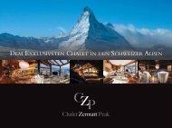 dem exklusivsten chalet in den schweizer alpen - Chalet Zermatt ...