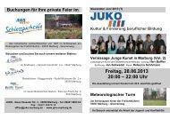 Vernissage Junge Kunst (Vol. 2) - JUKO Marburg e. V.