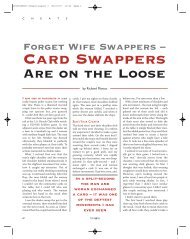 Card Swappers Are On The Loose - Richard Marcus
