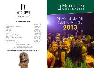 Fall 2013 NSO Brochure - Methodist University