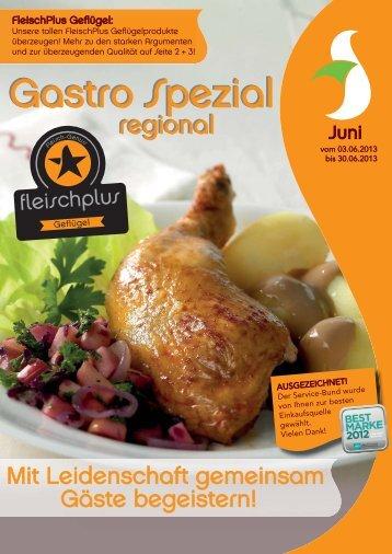 Gastro Spezial Regional - Juni 2013 - Recker Feinkost GmbH