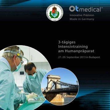 3-tägiges Intensivtraining am Humanpräparat - OT medical GmbH