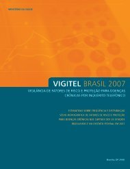 VIGITEL BRASIL 2007 - Ministério da Saúde