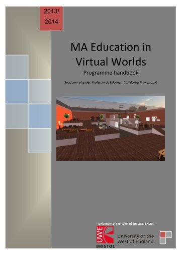 MA Education in Virtual Worlds - University of the West of England