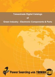 Taiwantrade Digital Catalogs of Green Industry - Electronic ...