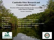 Cambodia Otter Research and Conservation Project