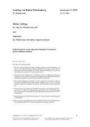 Stellensituation an den allgemein bildenden Gymnasien und ...