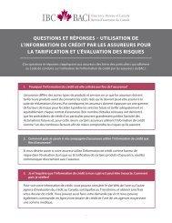 Questions et réponses – Utilisation de l'information de crédit par les ...