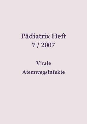 Pädiatrix Heft 7 / 2007