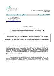 Overview on Country Risk Novembre 2007 - BNP Paribas