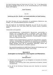 Ortsgestaltungssatzung - Penzberg