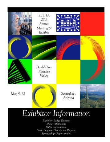 2005 Exhibitor Information and Sponsorship Opportunities (.pdf)