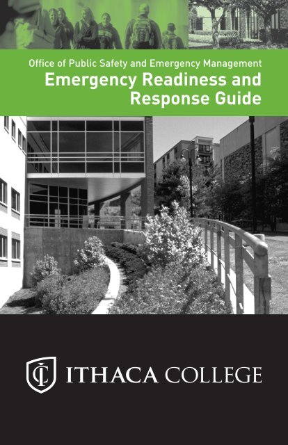 Emergency Readiness and Response Guide - Ithaca College